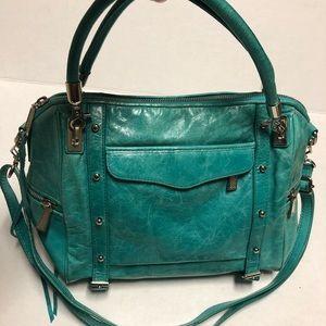 Rebecca Minkoff teal green shoulder/crossbody bag